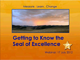 Get to Know the Seal of Excellence Webinar Recording